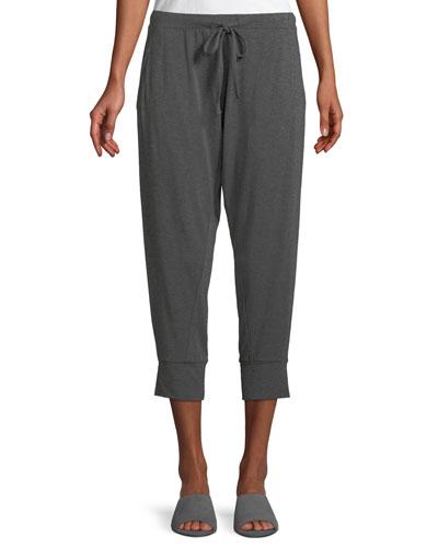 Cropped Lightweight Jersey Harem Pants