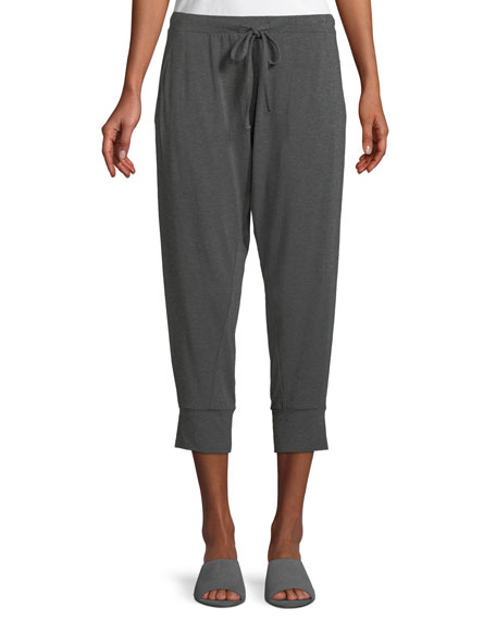 Cropped Lightweight Jersey Harem Pants