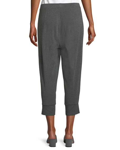 Lightweight Jersey Harem Cropped Pants, Petite