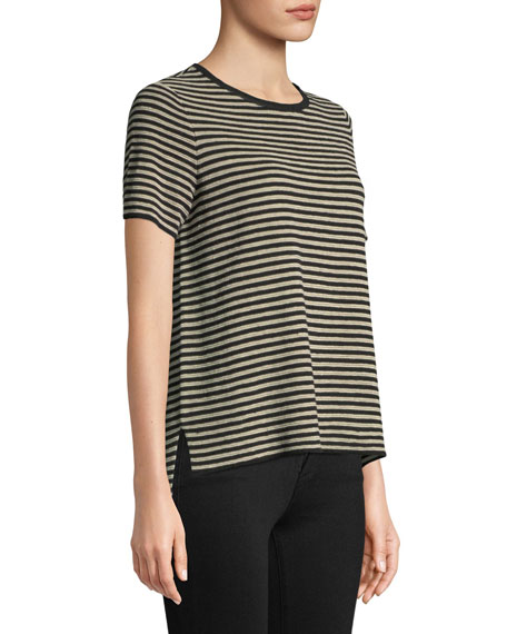 Striped High-Low Sweater, Petite