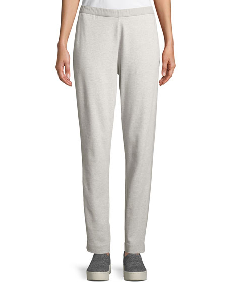 Joan Vass Side-Striped Interlock Knit Casual Pants, Petite