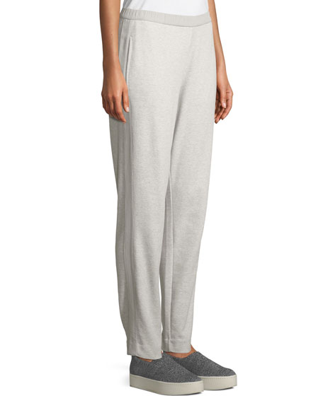 Side-Striped Interlock Knit Casual Pants, Plus Size