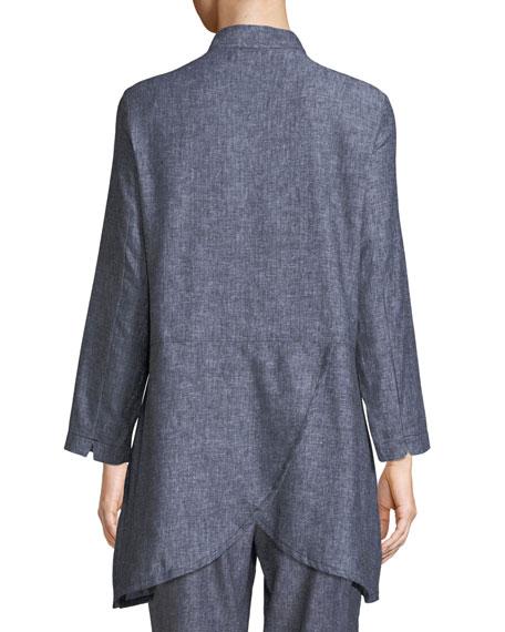 Jo Herringbone Linen Jacket
