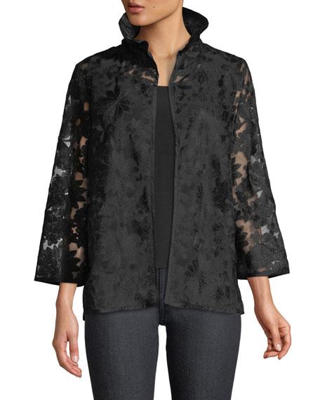Caroline Rose After Hours Floral-Embroidered Jacket, Plus Size