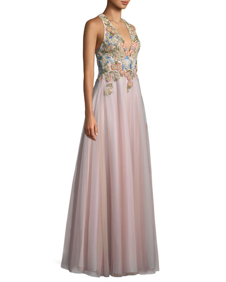 Embellished Tulle Ball Gown