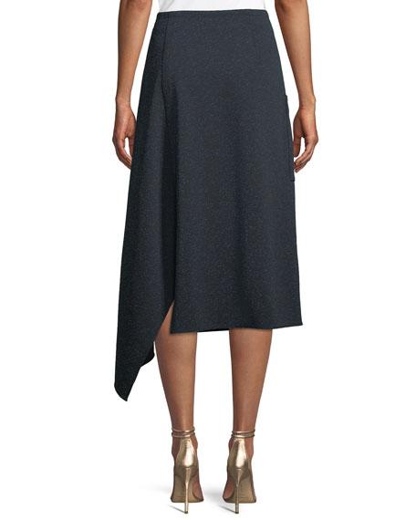 Eclipse Pique Origami A-Line Midi Skirt