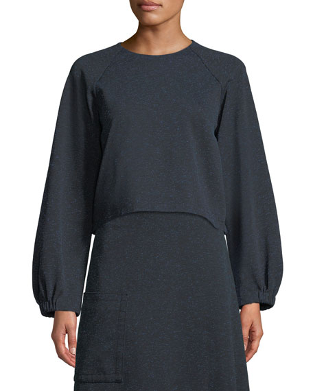 Tibi Eclipse Pique Cropped Sweatshirt and Matching Items