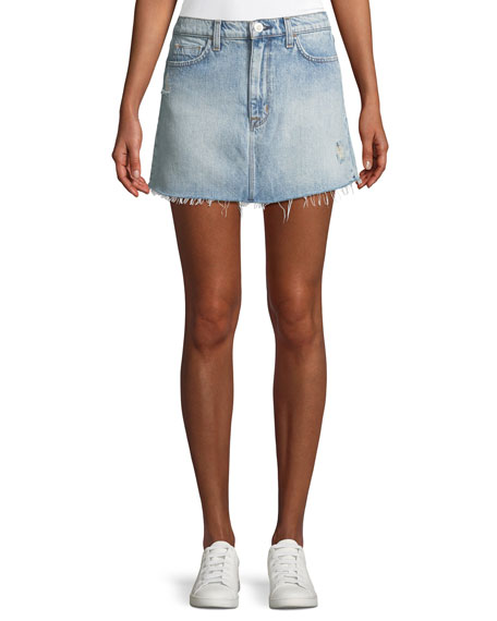 Hudson Vivid Frayed Cutoff Denim Skirt