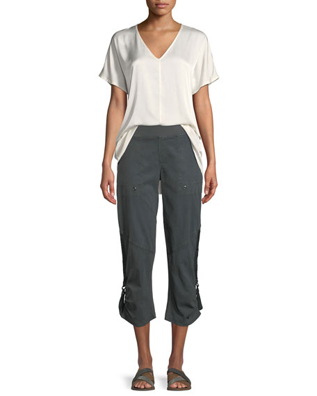 Aiden Tencel® Twill Crop Pants