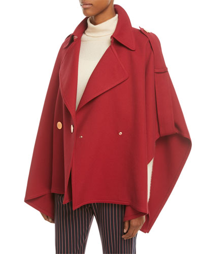 Snap-Front Trench Cape