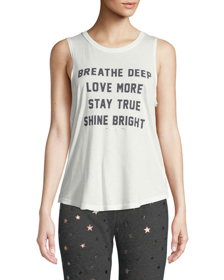 Breathe Graphic Muscle Tank