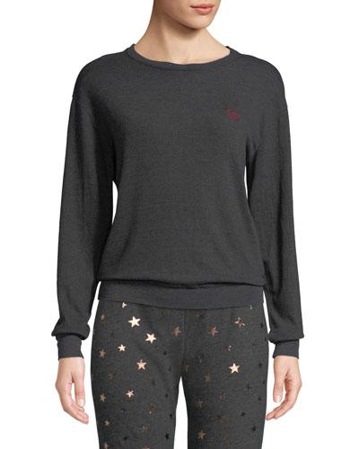 Love Wins Graphic Crewneck Pullover Sweater