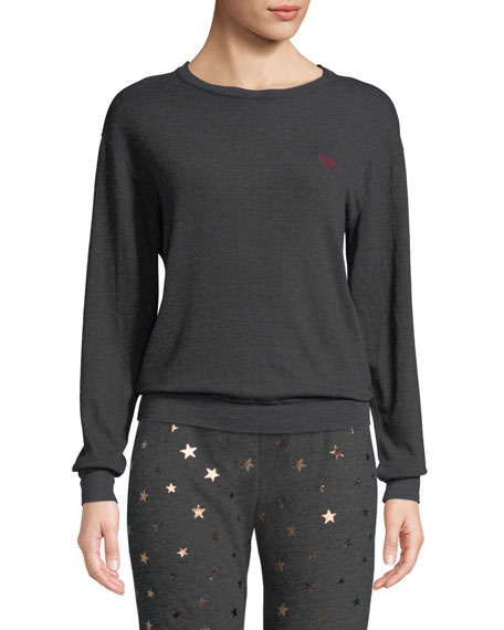 Love Wins Graphic Crewneck Pullover Sweater