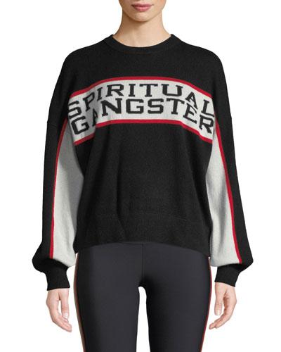 Varsity Intarsia Wool-Cashmere Sweater