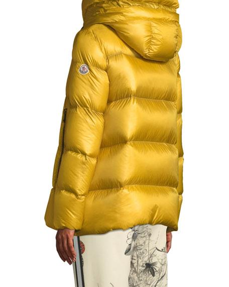 Serin Puffer Coat w/ Drawstring Hood