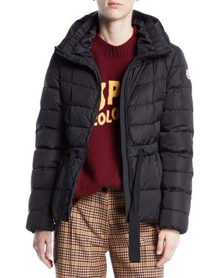 Avocette Channel-Quilted Utility Puffer Jacket