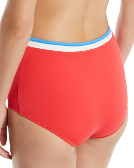 The Katie High-Waist Bikini Swim Bottoms