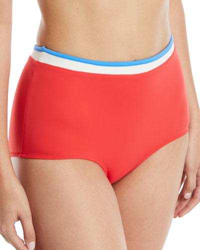 The Katie High-Waist Bikini Swim Bottoms