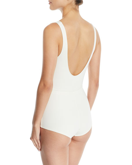 The Edie Drawstring One-Piece Swimsuit