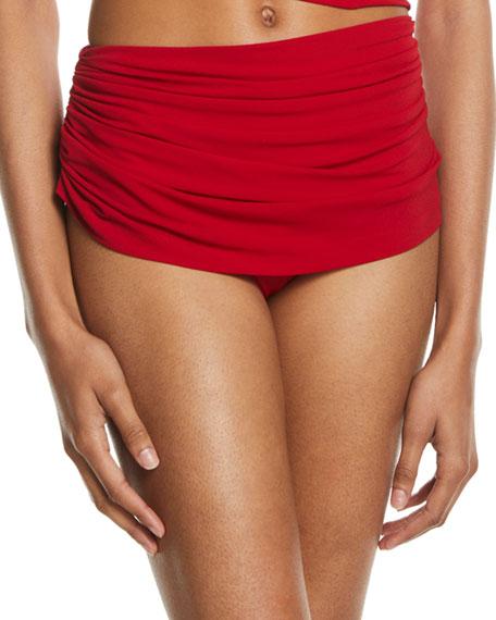 Norma Kamali Diana Shirred Bikini Bottom