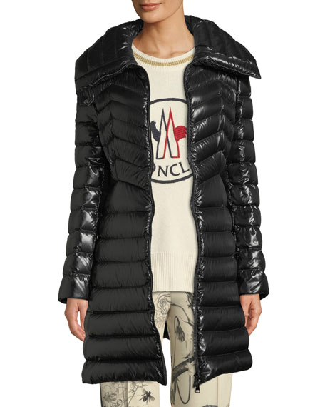 Moncler Faucon Fitted Puffer Coat and Matching Items
