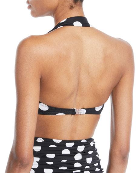 Bill Polka-Dot Halter Bikini Top