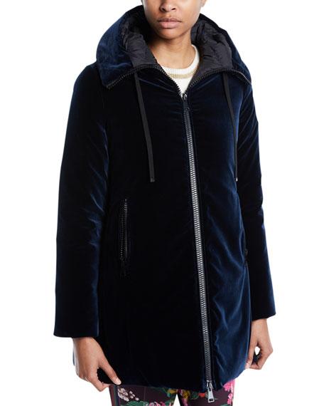 Bartramie Velvet Coat w/ Hood