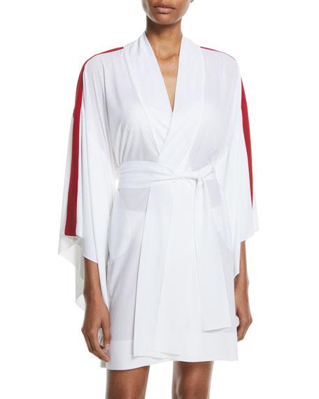 Open-Front Side-Striped Kimono