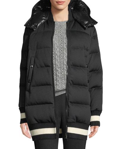 Harfang Puffer Coat w/ Contrast Hood