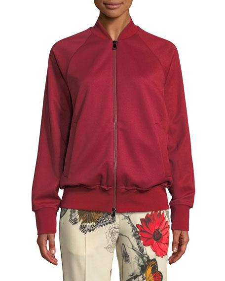 Moncler Side-Stripe Knit Bomber Jacket/Cardigan and Matching