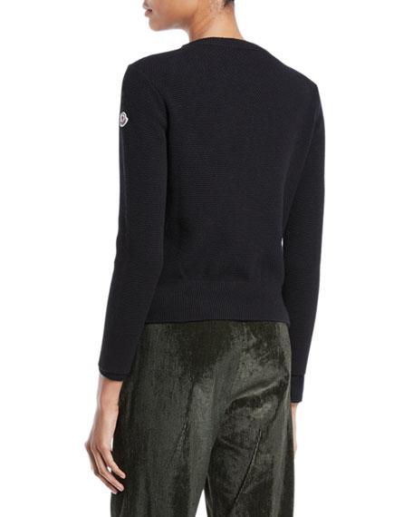 Alla Coreana Leopard-Print Zip Cardigan Sweater