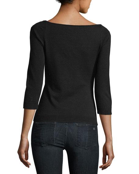 Square-Neck Pullover
