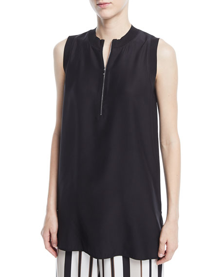 Lafayette 148 New York Foley Matte Silk Sleeveless