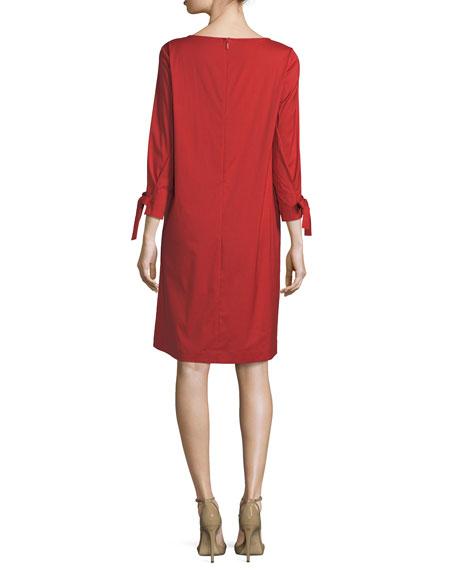 Paige 3/4-Sleeve Jersey Dress