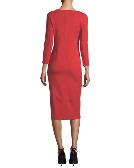 Shia Punto Milano Sheath Dress