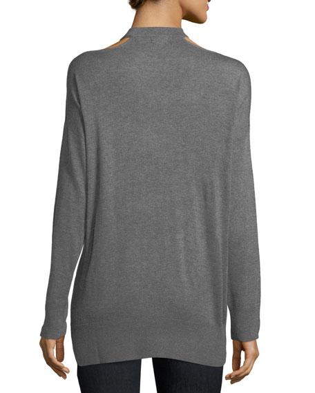 Canarise Cutout Cashmere-Blend Sweater