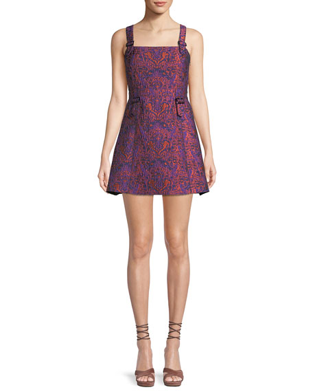 William Printed Buckle Mini Dress
