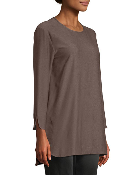 Washable Crepe Bracelet Tunic, Plus Size