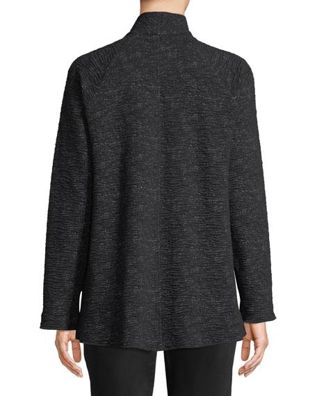 Ridged High-Collar Jacket, Plus Size