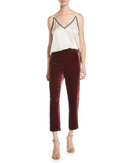 Velvet Ankle Trousers, Plus Size