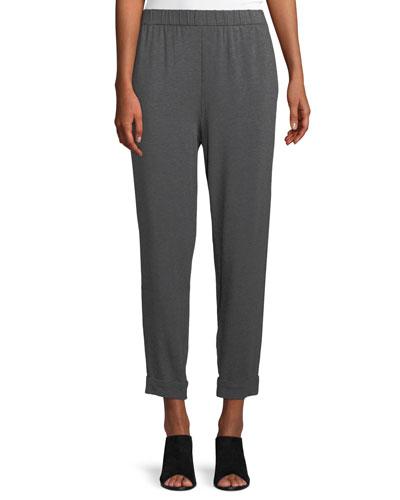 Slouchy Cropped Tencel Jersey Pants