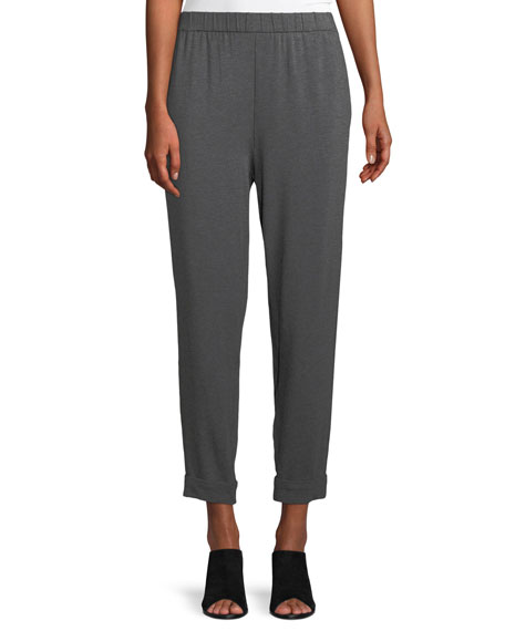 Eileen Fisher Slouchy Cropped Tencel Jersey Pants
