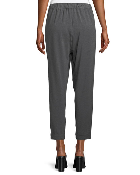 Slouchy Cropped Tencel Jersey Pants, Plus Size