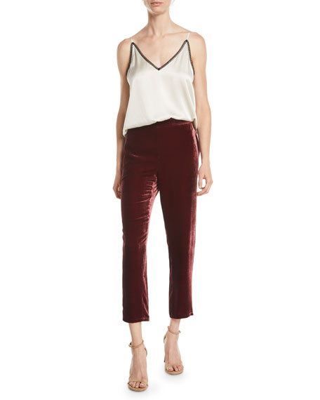 Velvet Ankle Trousers
