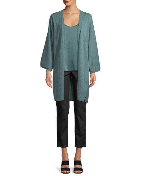 Italian Cashmere Long Kimono Cardigan, Petite