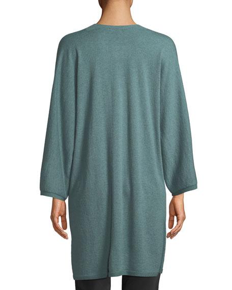 Italian Cashmere Long Kimono Cardigan, Plus Size