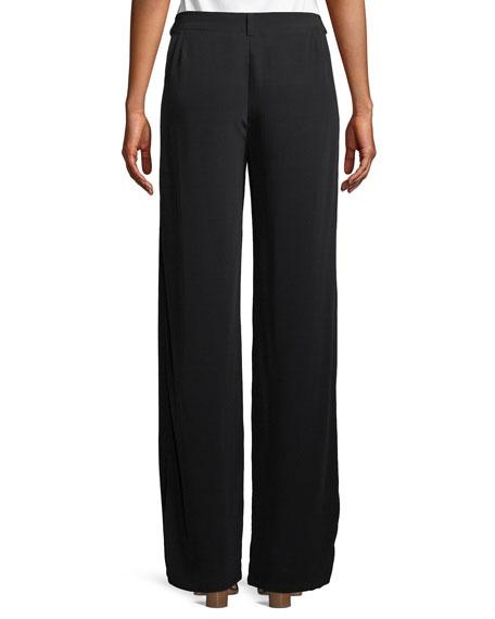 Viscose Crepe Straight-Leg Trousers, Plus Size