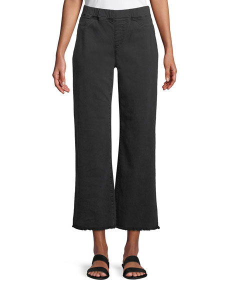 Eileen Fisher Pull-On Denim Ankle Jeans w/ Raw