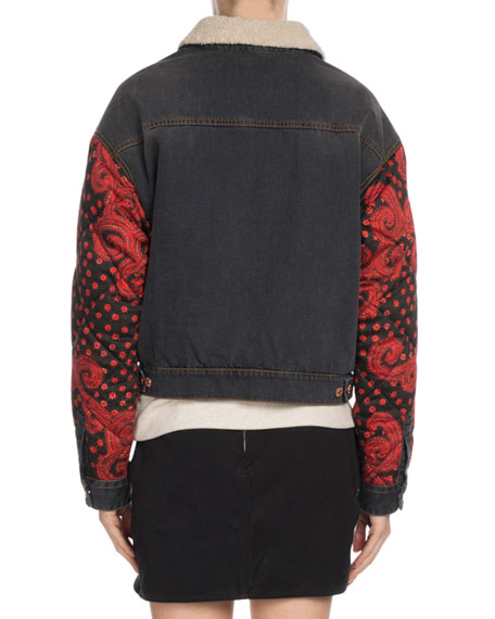 Chrissa Jean Jacket w/ Quilted Sleeves