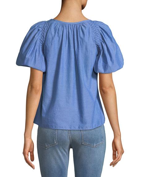 Lirona Bubble-Sleeve Top